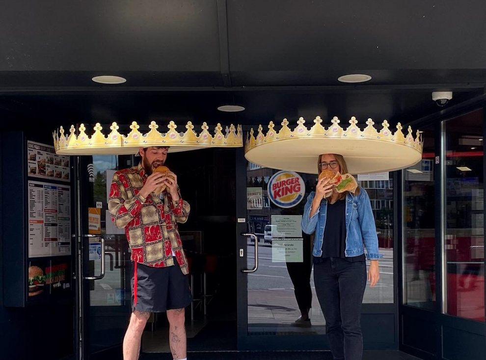 Burger King launches giant social distancing crowns to make sure customers keep 6ft apart