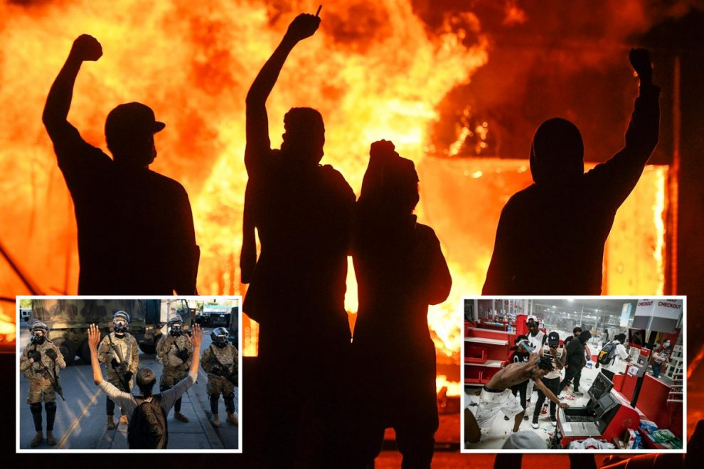 Donald Trump ready to put army on US streets after race riots broke out in 30 cities following George Floyd death