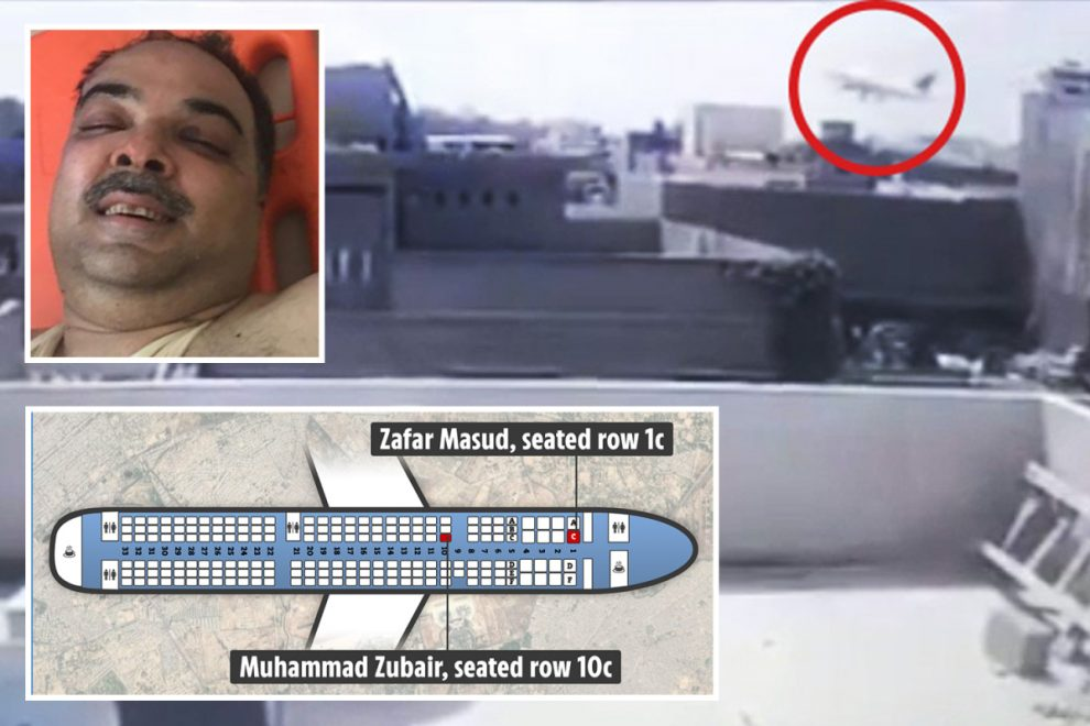 Pakistan crash – plane map reveals miracle seats where two survivors were sitting during disaster which killed 97