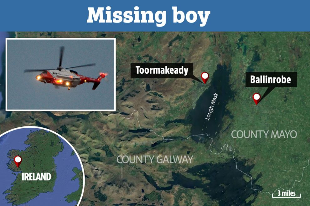 Boy, 4, missing after entering lake in Co Mayo in Ireland as major search op under way