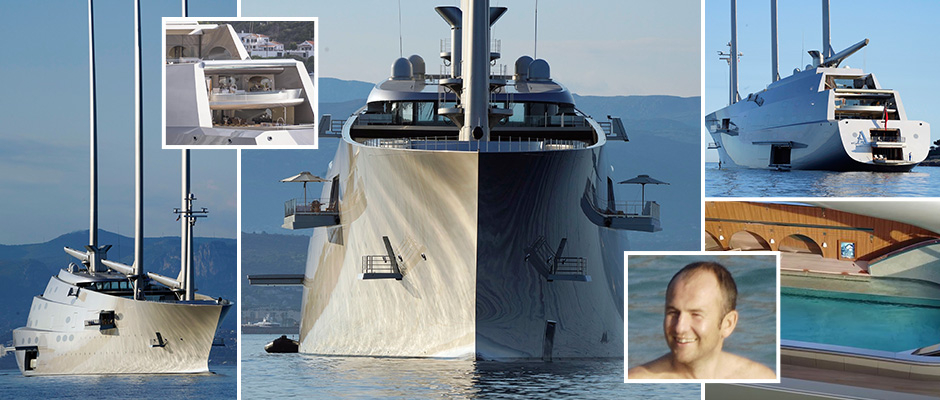 Russian oligarch's monstrous £360m superyacht with masts taller than Big Ben docks in south of France