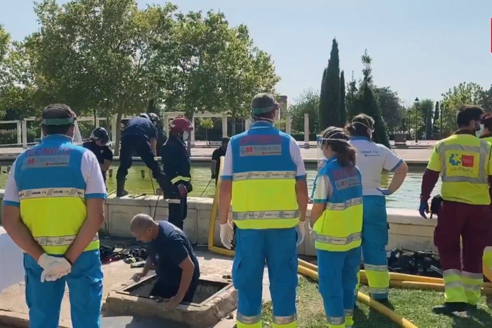Boy, 16, dies after being sucked into pipes of fountain in Spain when pals fiddled with controls while he was swimming