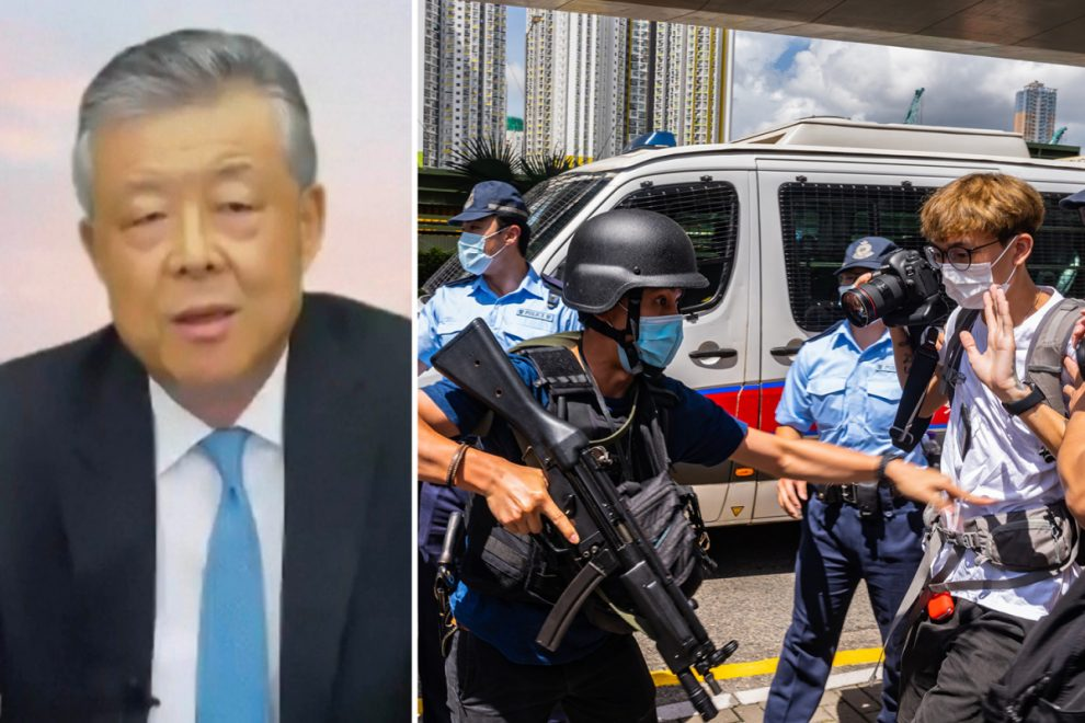 China's ambassador to UK warns Britain not to treat Beijing as an enemy as he slams 'interference' in Hong Kong