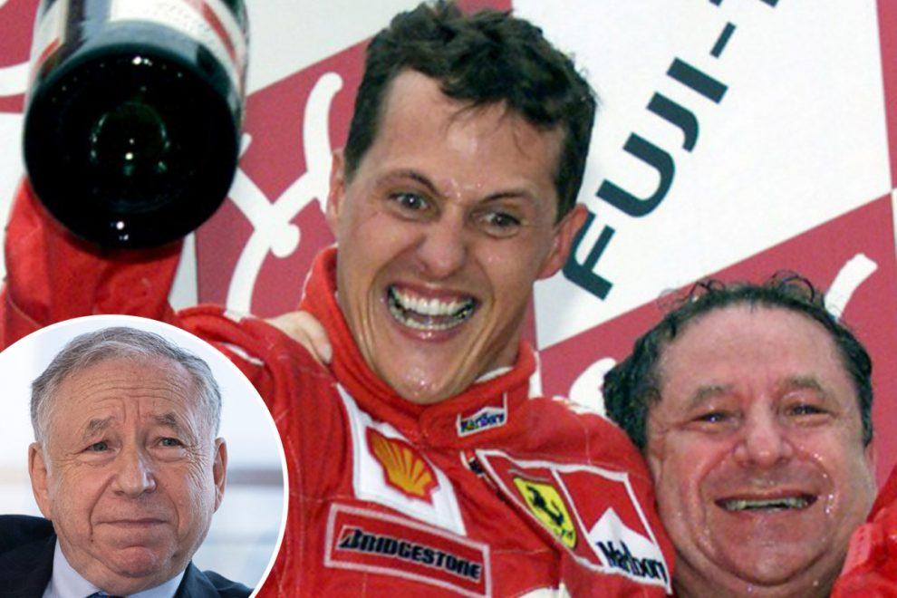 Michael Schumacher's ex Ferrari boss Jean Todt says 'he hopes world will see him again' after visiting stricken champ