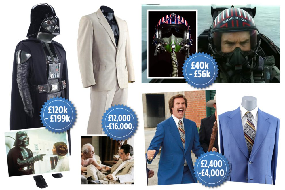 Top Gun helmet and Darth Vader outfit to be sold at auction as part of £5M Hollywood memorabilia treasure trove