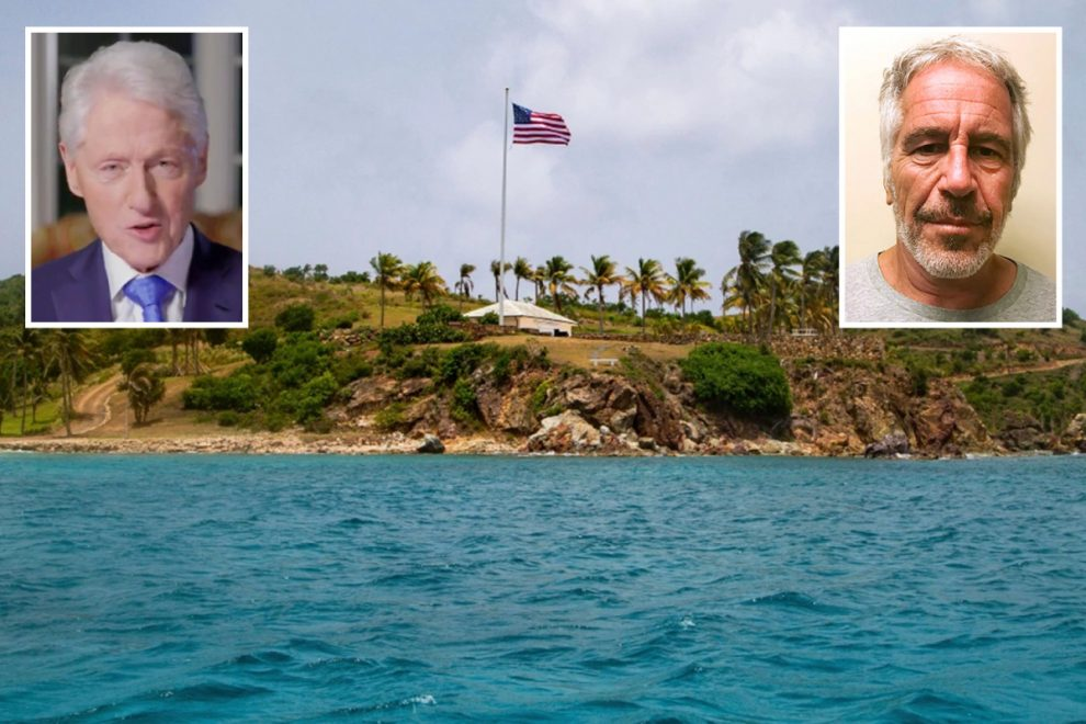 Bill Clinton spent time on Epstein's Paedo Island relentlessly flirting with two women before vanishing with them both'