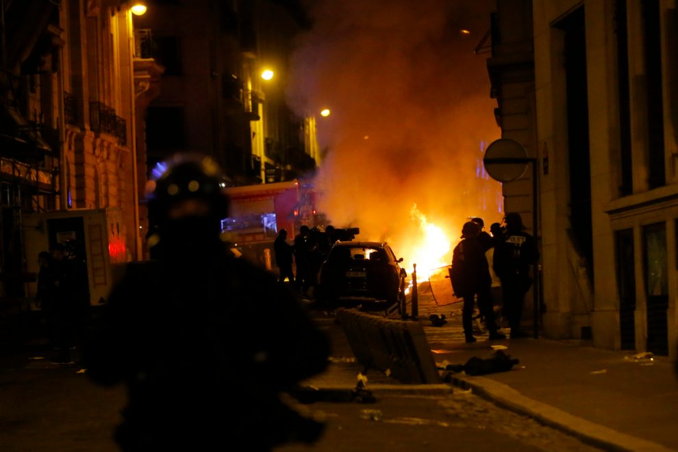 Cops fire tear gas at frustrated PSG supporters in Paris after Champions League final defeat against Bayern Munich