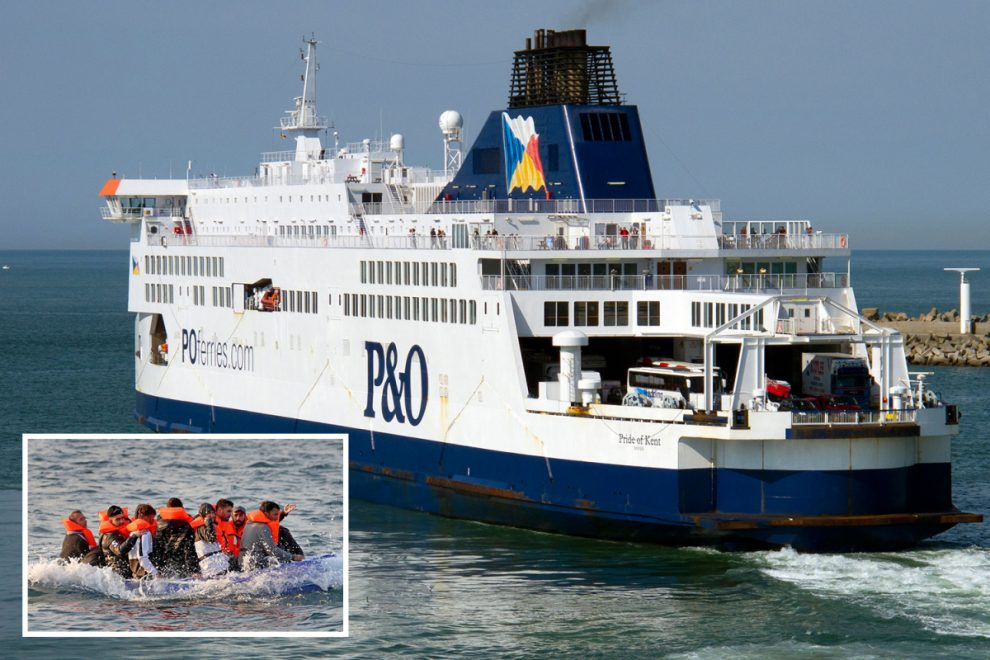 P&O ferry forced to U-turn after 'nearly mowing down' migrant boats crossing Channel to Dover