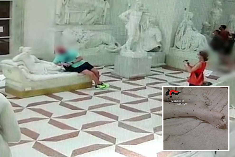 Tourist accidentally breaks off toe of 200-year-old sculpture in Italian museum whilst taking photo