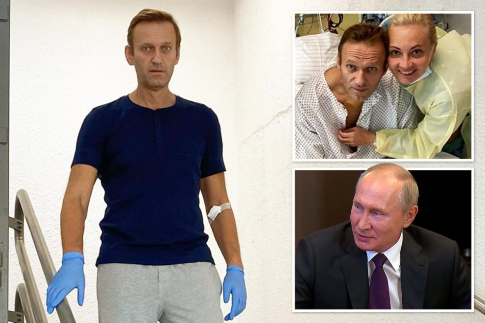 Alexei Navalny walks down stairs in Instagram snap as Putin foe recovers from Novichok poisoning