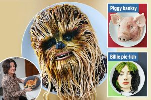 Mum becomes internet sensation after creating an edible Chewbacca