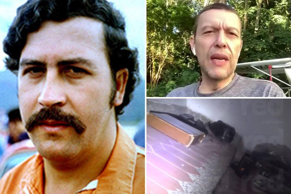 Pablo Escobar's nephew finds £14m in cash stashed in wall of drug lord's house after claiming 'vision' inspired him