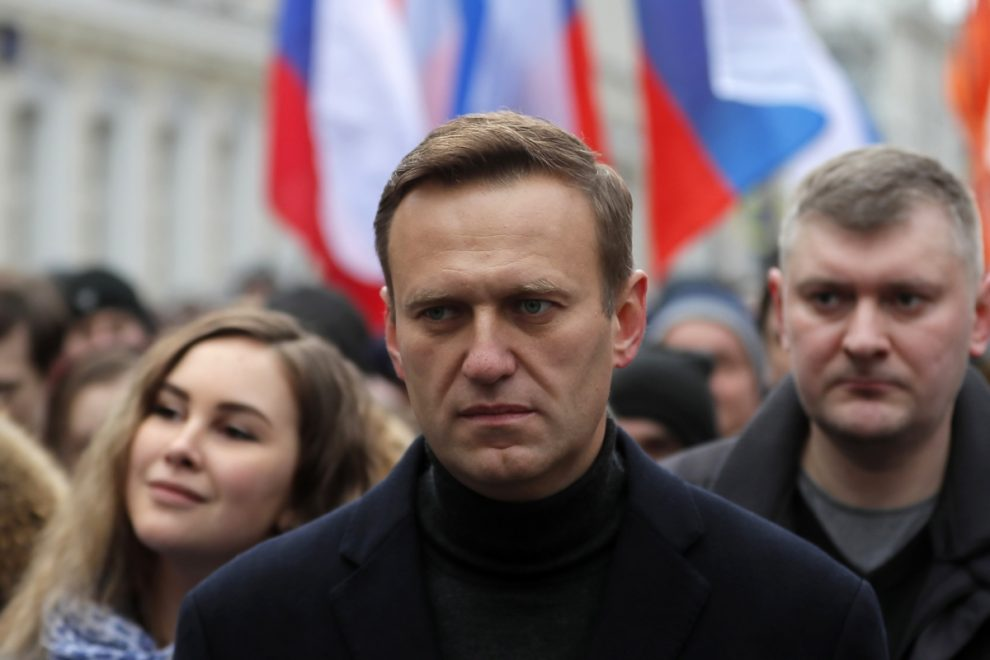 Russian opposition leader Alexei Navalny is able to leave his bed after being posioned with Novichok