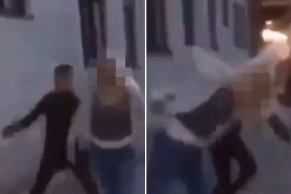 Shocking video shows thug sucker-punch woman on a street in Sweden sparking fury