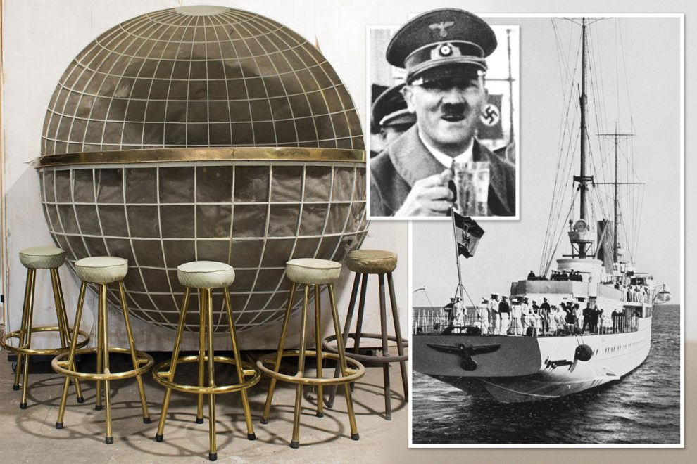 Adolf Hitler's globe-shaped drinks bar from his private yacht is going on sale after spending 70 years in a barn