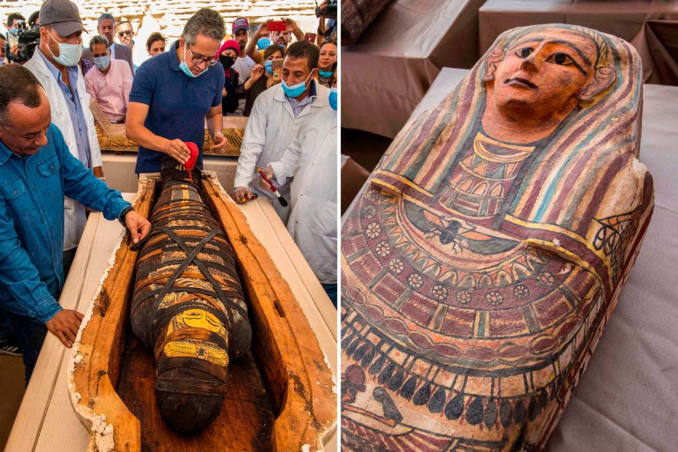Archaeologists open ancient Egyptian tombs to find 50 mummies with brains removed