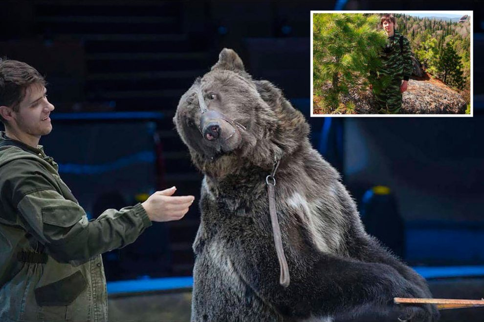 Circus trainer mauled to death by a bear which tore off his scalp 'because he forgot to take off his Covid face mask'