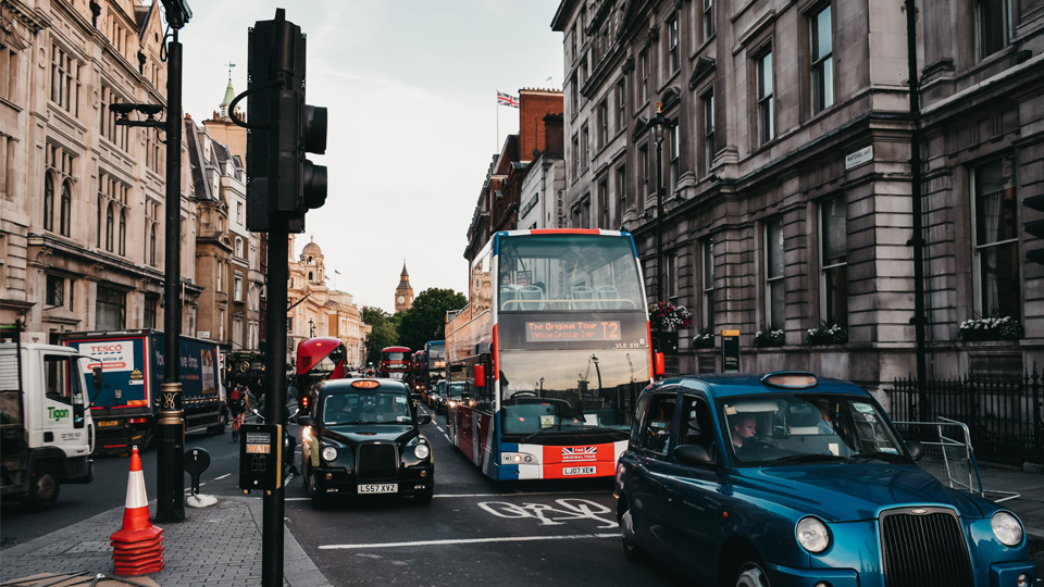 UK Air Pollution Congested London Street