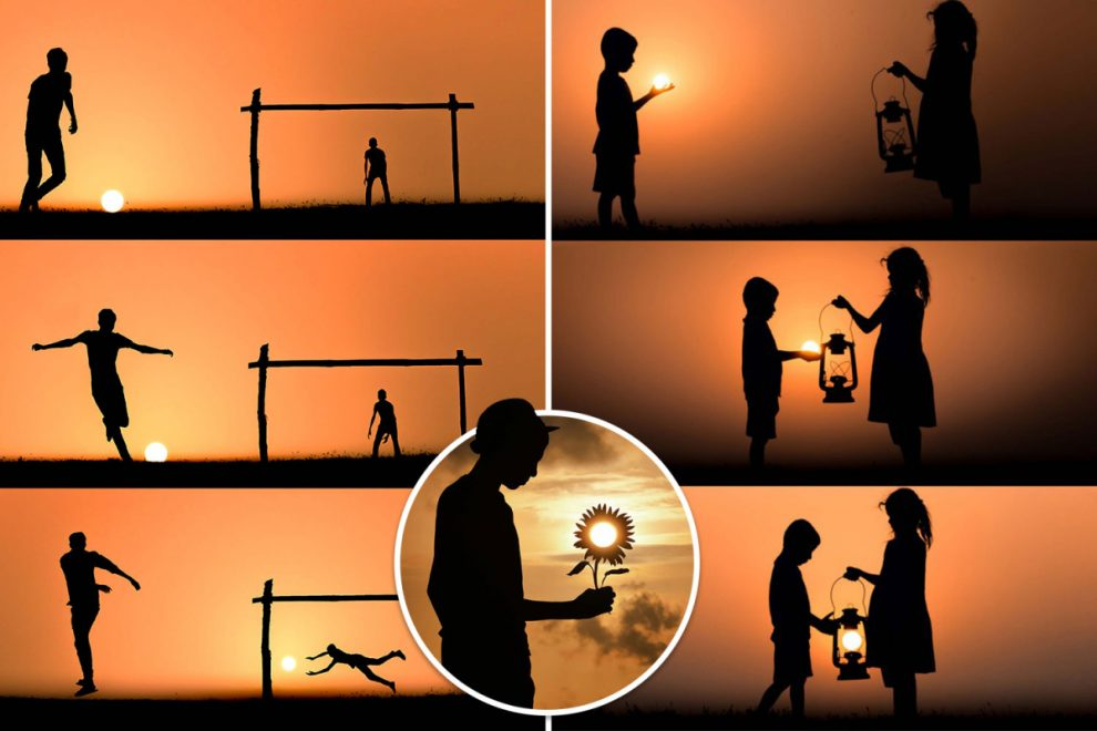 Incredible photographer uses setting sun to create stunning silhouette pictures