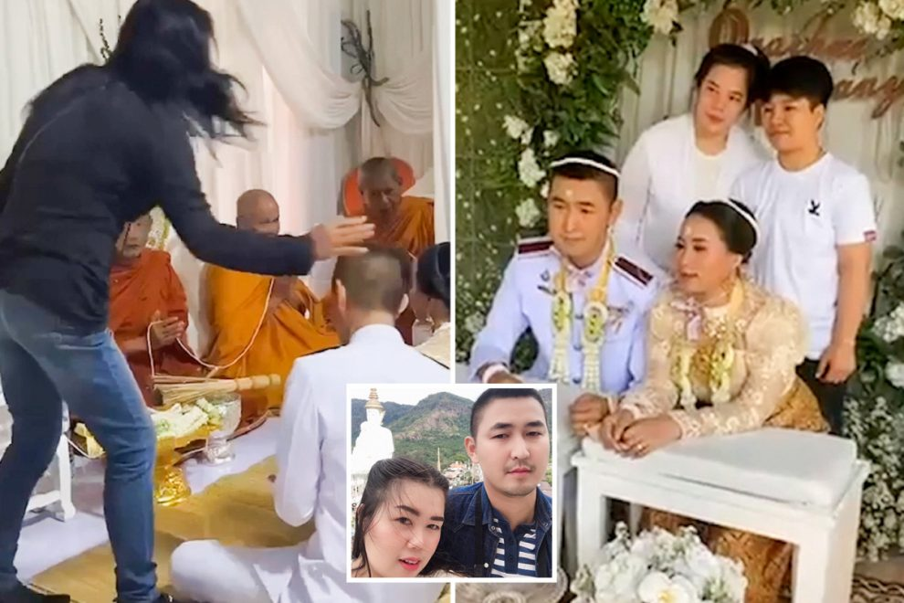 Furious mother-in-law crashes wedding to reveal groom is already MARRIED – and now he faces jail for bigamy