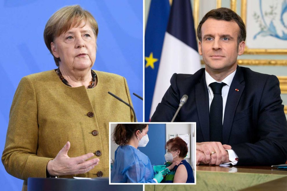 Germany and France Covid vaccine rollout in chaos as thousands refuse Oxford jab after scaremongering by politicians