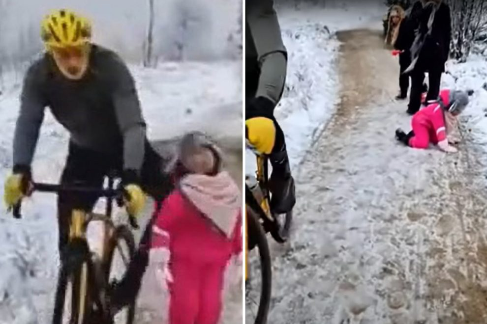 Cyclist who knocked girl, 5, to floor in snow ordered to pay just €1 compensation after social media abuse he received