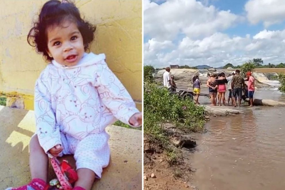 Body of girl, 2, found floating in river after dad accidentally dropped her when he went to rescue drowning mum