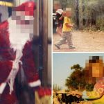 Creepy pics reveal life inside 'world's most inbred family' with dad dressed as Santa & kids sleeping in squalid tents