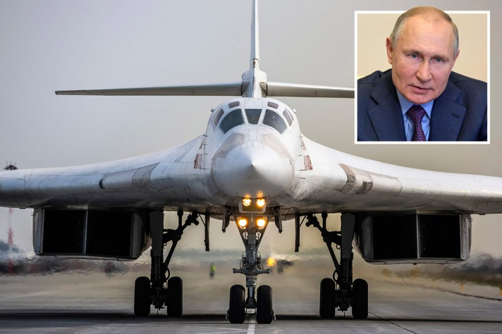 Russian nuke bombers and fighter jets 'blitz Ukraine' in massive military drills as war fears grow