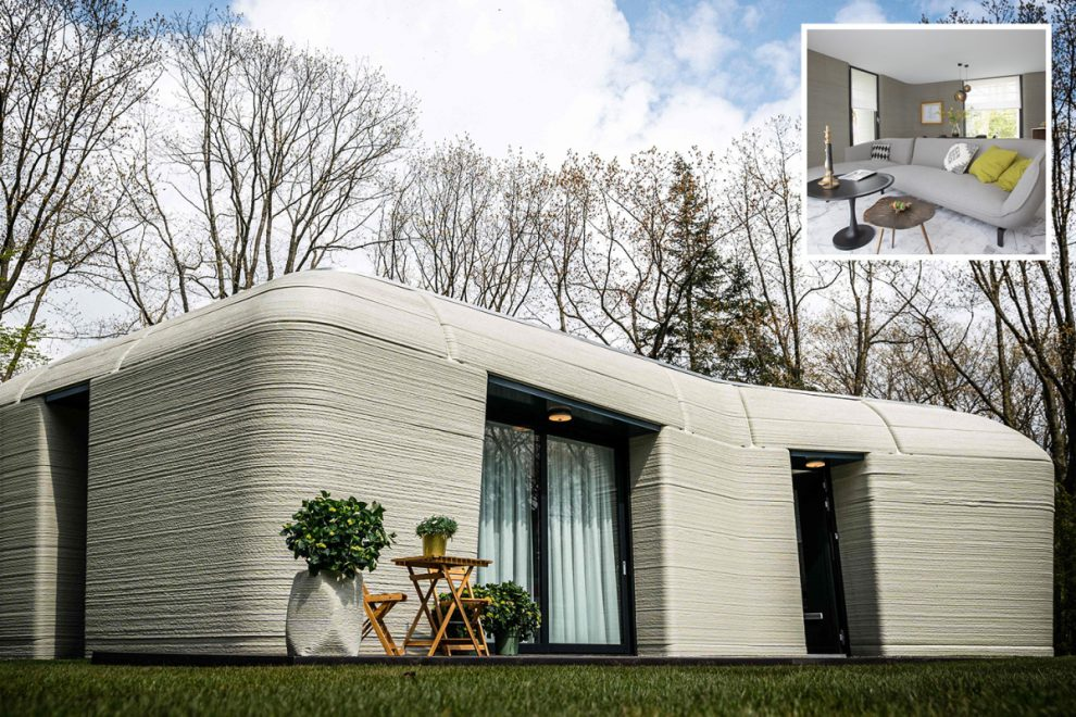 Couple moves into Europe's first 3D-printed house as developer claims homes can be built in FIVE DAYS