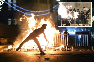Dozens hurt in violent clashes in Jerusalem as fighting flared up during night time prayers in holy city's mosque