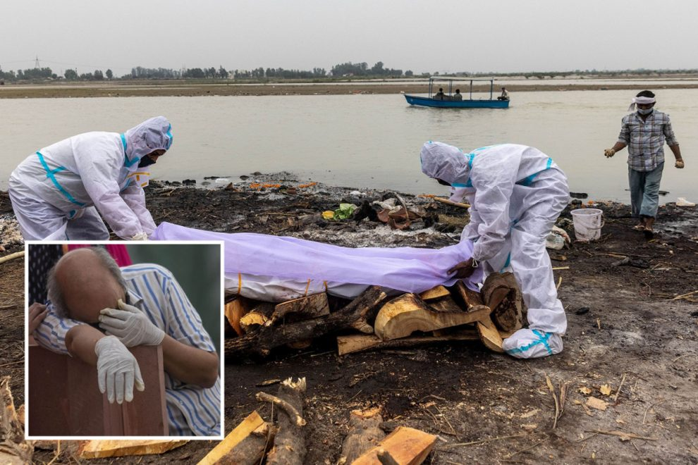 Dozens of 'Covid-infected' bodies found floating in Ganges river in India as 'super spreader' festivals STILL go ahead