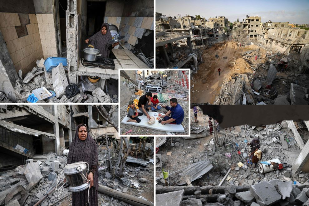 Palestinian families return to rubble after homes raised to the ground by Israeli rockets during 11-day bombing blitz