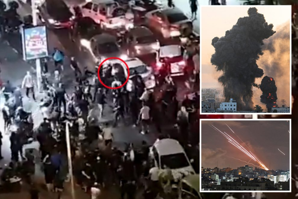 Shocking moment Israeli mob batters 'Arab' driver in street as Gaza faces 'all-out war' after death toll passes 70