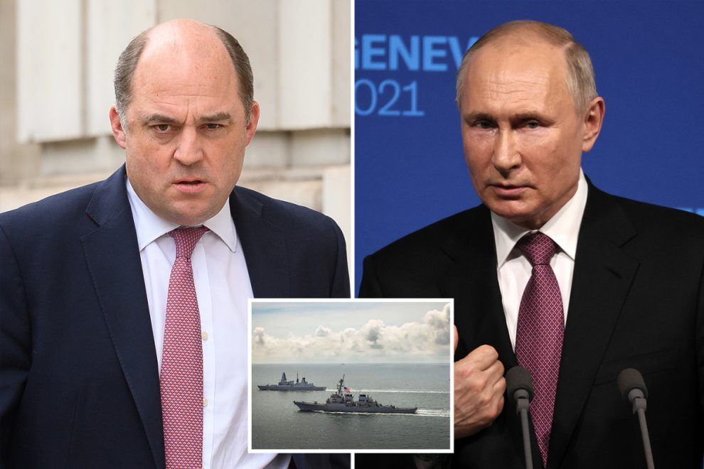 Defiant Britain tells Putin 'You won't stop our ships' after Royal Navy destroyer's face-off with Russians near Crimea