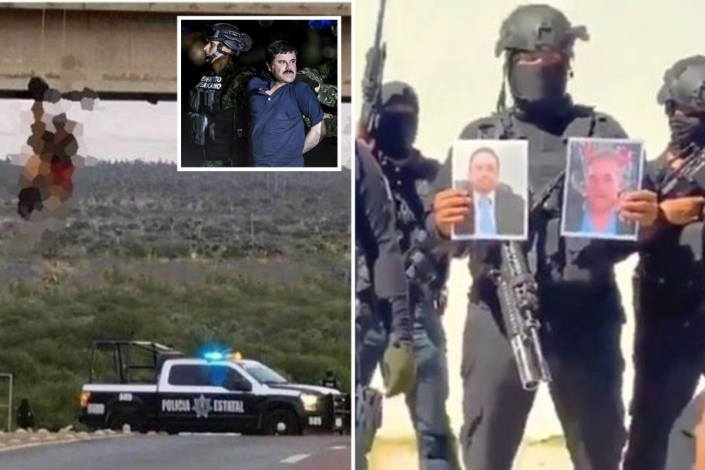 El Chapo's cartel torture and kill rivals before hanging naked bodies from bridge in brutal turf war