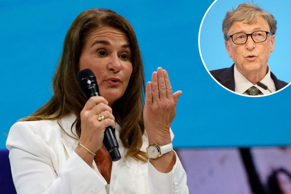 Melinda Gates ditches her wedding ring for equality forum as she's seen for the first time since Bill divorce shock