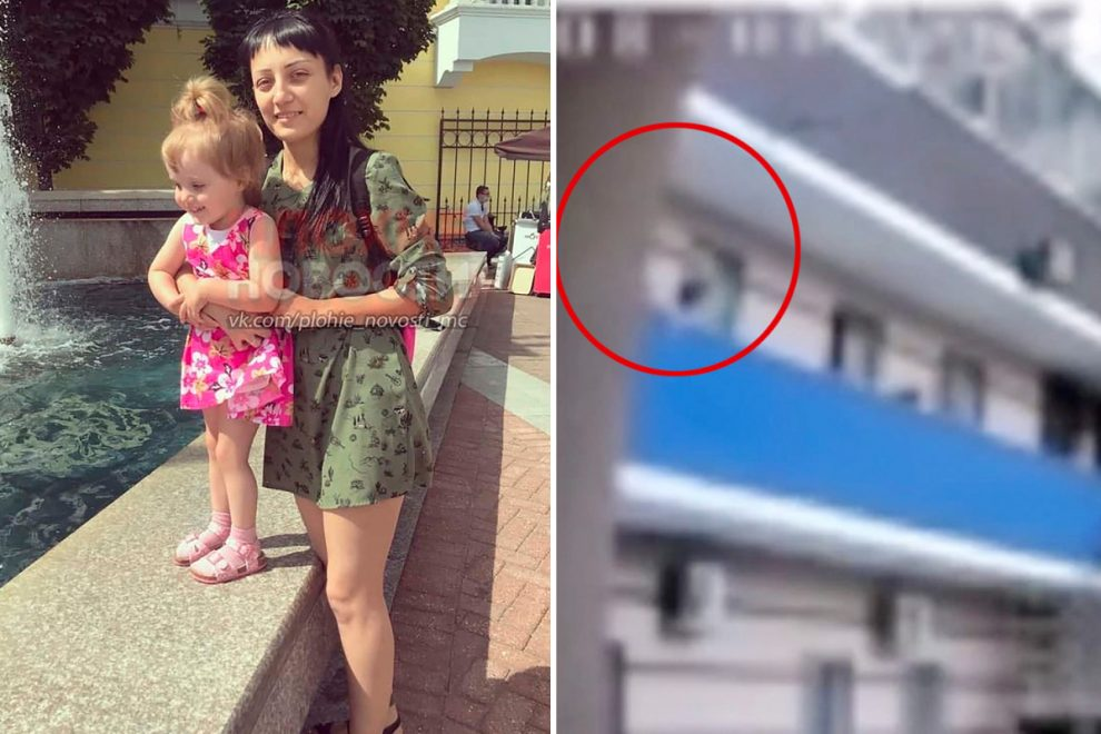 Mum dangles screaming daughter, 3, over sixth floor balcony as punishment for crying 'but then DROPS her to her death'