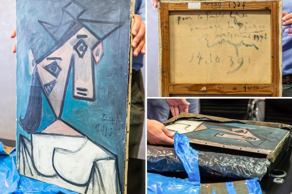 Priceless Picasso stolen from Greek National Gallery found hidden in ditch nine years later