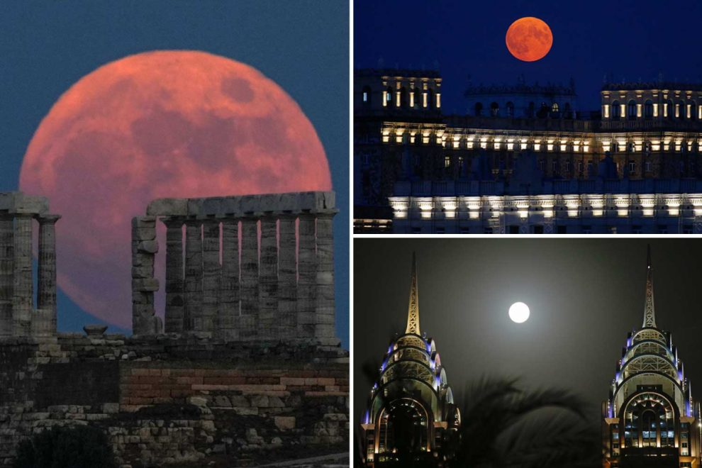 Strawberry Super Moon lights up the night in spectacular pics from around the world