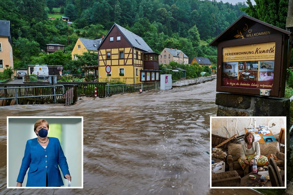 Germany floods – Unstable dam at risk of COLLAPSE as death toll hits 180 and Angela Merkel to visit today