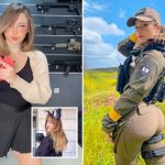 Israel blasted for posting 'thirst trap' videos of sexy gunslinging female soldiers after hundreds die in Gaza conflict