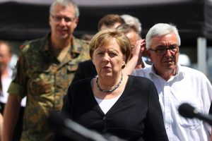 Merkel 'shocked' by 'terrifying' floods that killed 180 and has 'no words for destruction wreaked'