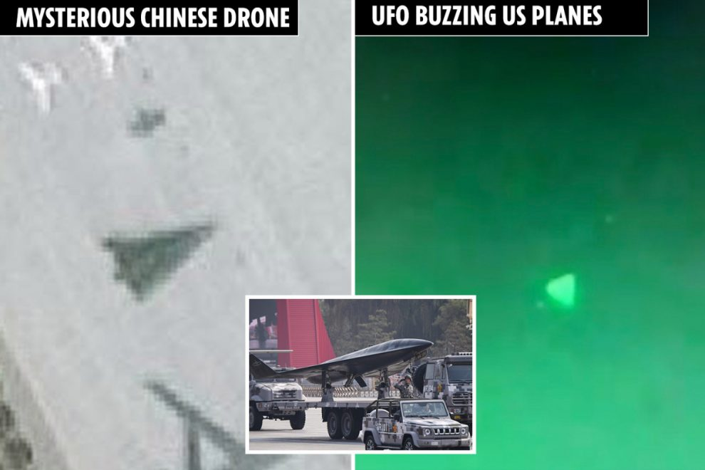 Mysterious 'hypersonic AI drone' spotted at Chinese air base as Pentagon probes whether Beijing behind 'UFOs' buzzing US
