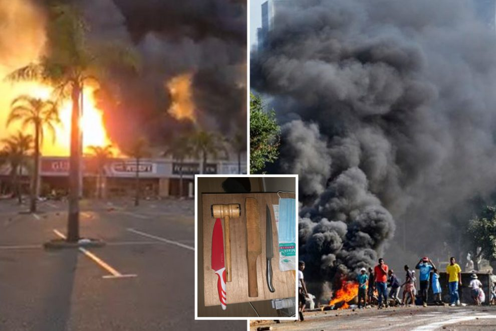South Africa riots – Terrified families compare looting hell to Walking Dead as they fight mobs with homemade weapons
