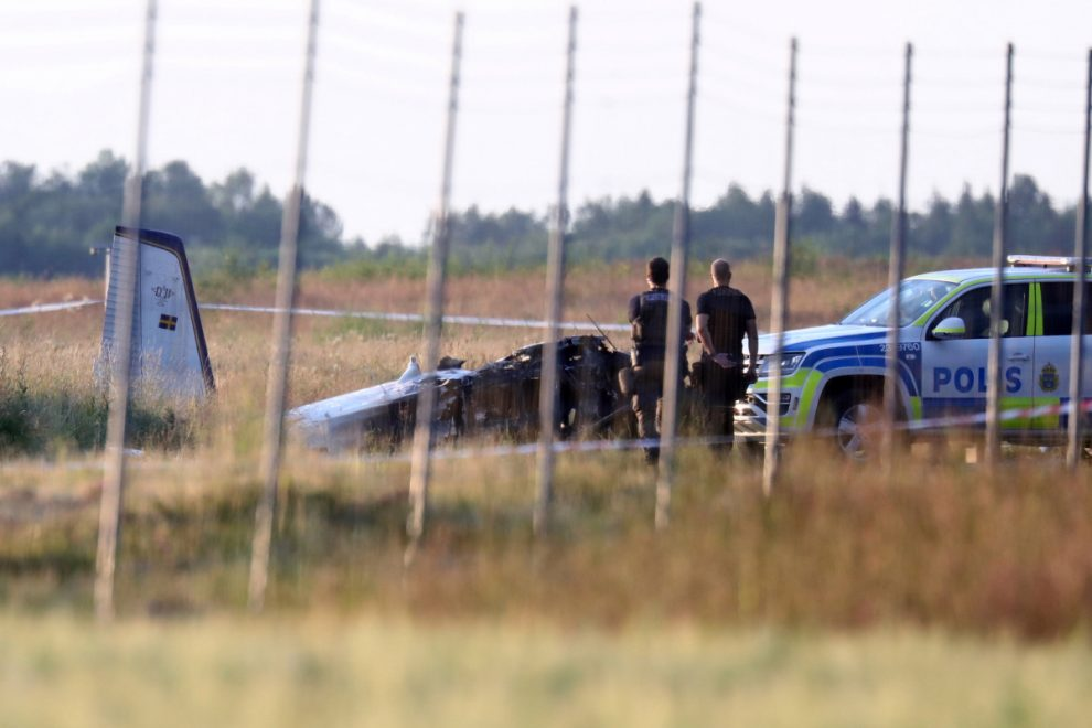 Sweden plane crash: 'Several' killed as aircraft carrying sky divers plummets to the ground outside Orebro