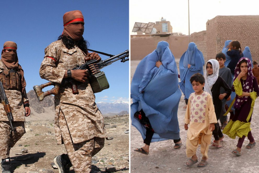 Terrified Afghans flee as Taliban sweep through country in the wake of UK and US troops withdrawal