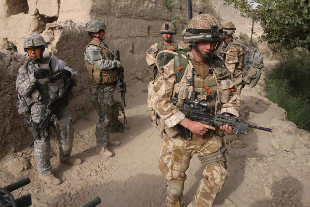 Union Flag lowered in Afghanistan after 20 years of British military presence as UK troops continue to withdraw