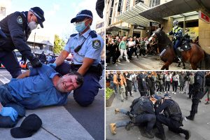 Violent anti-lockdown protests erupt across Australia after harsh restrictions enforced over 179 daily Covid cases